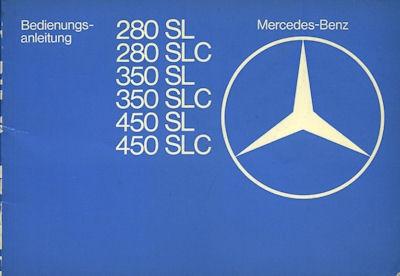 Mercedes-Benz 280 - 450 SL / SLC Bedienungsanleitung 1.1977 0