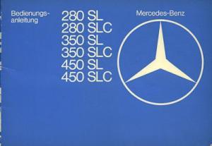 Mercedes-Benz 280 - 450 SL / SLC Bedienungsanleitung 1.1977