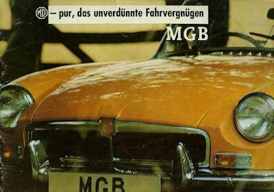MG B Prospekt 1960er Jahre
