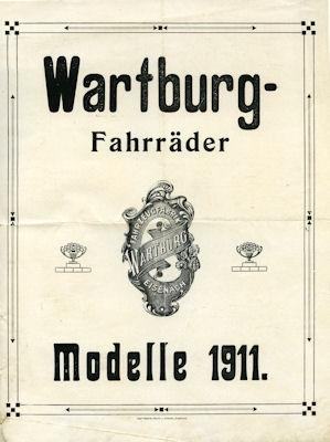 Wartburg Fahrrad Prospekt 1911