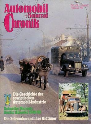 Automobil und Motorrad Chronik 1981 Heft 2