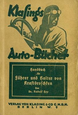 Klasings Auto-Bücher Kraftdroschkenführer Bd. 26 1927