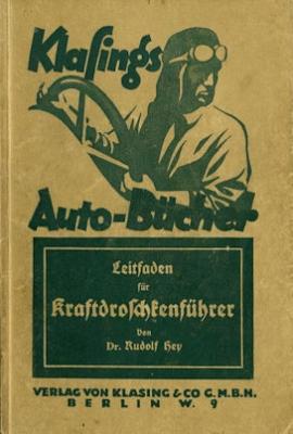 Klasings Auto-Bücher Kraftdroschkenführer Bd. 26 1926