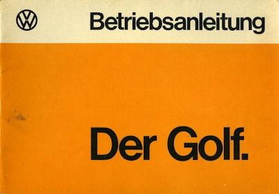 VW Golf 1 Bedienungsanleitung 6.1974