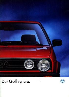VW Golf 2 Syncro Prospekt 1.1991 0