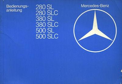 Mercedes-Benz 280 380 500 SL / SLC Bedienungsanleitung 1981