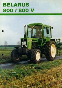 Belarus 800 / 800V Prospekt 1980er Jahre