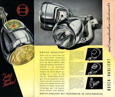 Bosch Radlicht Prospekt 9.1952