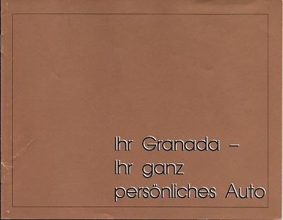 Ford Granada Zubehör Prospekt ca. 1975