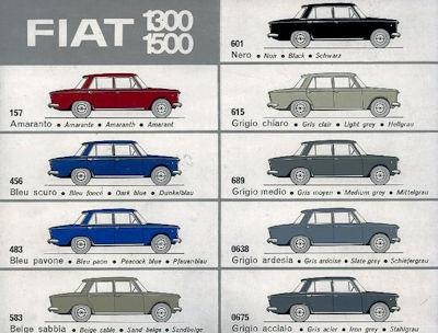 Fiat 1300 / 1500 Farben 1960er Jahre