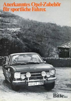 Opel Zubehör für sportliche Fahrer Prospekt 5.1969 0