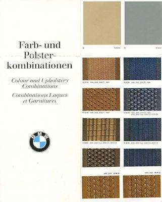BMW Farben und Polster 9.1969 0