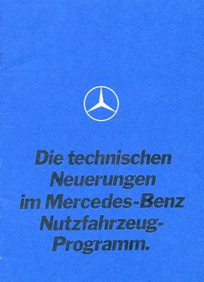 Mercedes-Benz technische Neuerungen Prospekt 9.1969