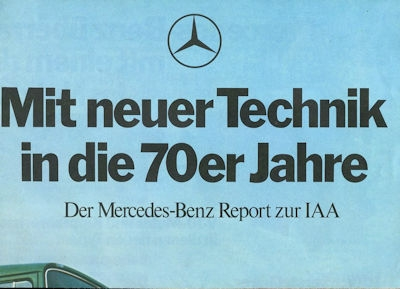 Mercedes-Benz Lkw Plakat 9.1969