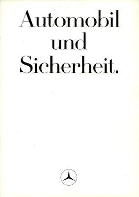 Mercedes-Benz Sicherheit Prospekt 6.1984