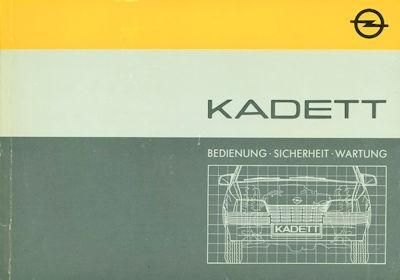 Opel Kadett E Bedienungsanleitung 12.1984 0