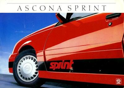 Opel Ascona Sprint Prospekt 9.1986 0