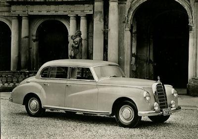 Ansichtskarte Mercedes-Benz 300 Innenlenker 1953