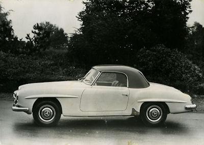 Ansichtskarte Mercedes-Benz 190 SL 1955