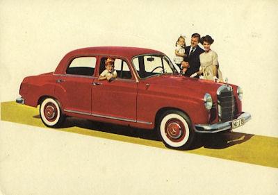 Ansichtskarte Mercedes-Benz 190 D 8.1959