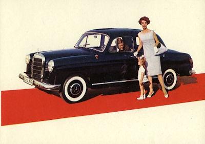 Ansichtskarte Mercedes-Benz 180 D 8.1959