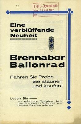 Brennabor Fahrrad Prospekt 1927