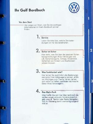 VW Golf 4 Bedienungsanleitung 8.1997 1