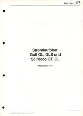 VW Golf 1 / Scirocco 1 Stromlaufplan 1977 0