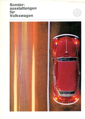 VW Käfer Sonderausstattung Prospekt 1.1968 0