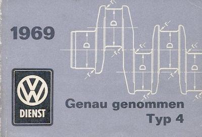 VW Typ 4 / 411 Genau genommen Broschüre 1969
