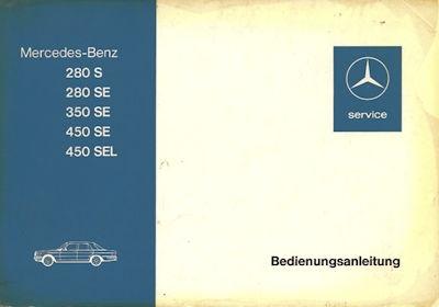 Mercedes-Benz W 116 Bedienungsanleitung 8.1972 0