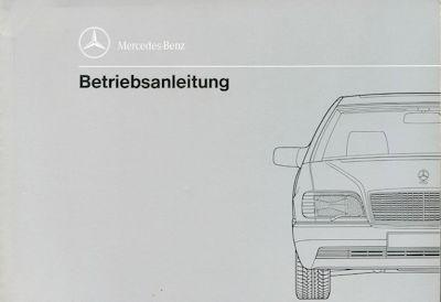 Mercedes-Benz 600 SE SEL Bedienungsanleitung 2.1991 0