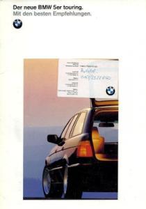BMW 5er Touring Prospekt-Mappe 1992