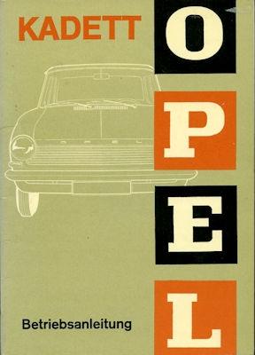 Opel Kadett A Bedienungsanleitung 5.1965