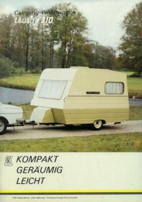 Wohnwagen Lausitz 310 Prospekt 1988