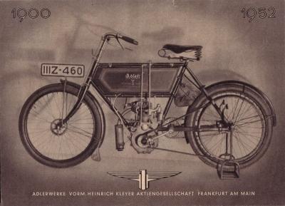 Adler Motorrad Programm 1951/52