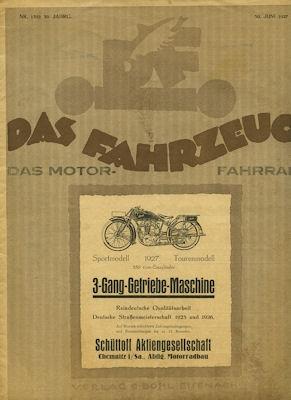 Das Fahrzeug / Das Motor-Fahrrad 1927 Heft 1352