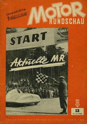 Motor Rundschau 1949 Heft 13