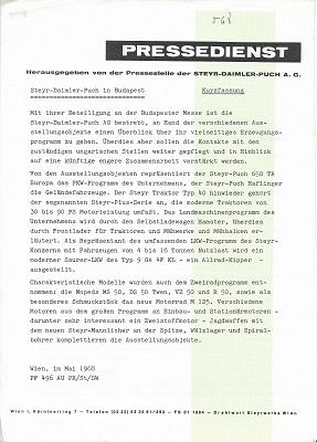 Steyr-Daimler-Puch Pressedienst 1968