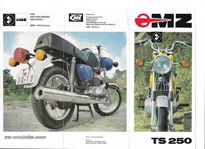MZ TS 250 Prospekt 1973 pl