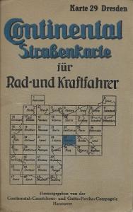 Continental Straßenkarte 29 Dresden 1930er Jahre
