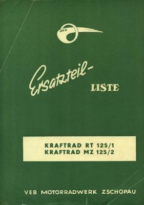 IFA Typ RT 125/1 + /2 Partlist 6.1960
