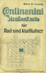 Continental Straßenkarte 28 Leipzig 1930er Jahre