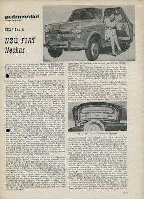 NSU-Fiat Neckar Test ca. 1960 0