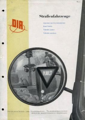DIA Straßenfahrzeuge Prospekt 1952