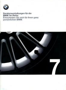 BMW 7er Sonderausstattung Prospekt 1999