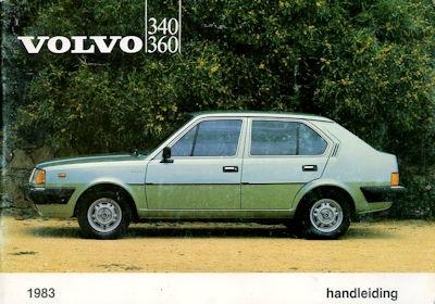 Volvo 340 360 Bedienungsanleitung 5.1983 nl