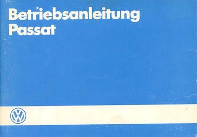 VW Passat Bedienungsanleitung 2.1986