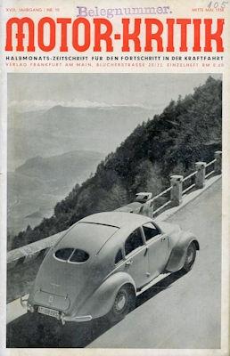 Motor-Kritik 1938 Heft 10