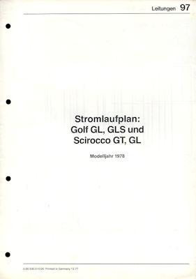 VW Golf 1 / Scirocco 1 Stromlaufplan 1978